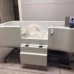 hydraulic tub with shampoo rinsing system